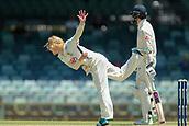 November 4th 2017, WACA Ground, Perth Australia; International cricket tour, Western Australia versus England, day 1; Kyle Gardiner bowls his leg spin during Englands first innings