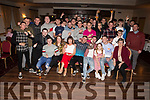 Trio of friends, Timmy Ryle, Conor Brick and Tom McElligott heading off to Australia and are enjoying their leaving party in the Kerins O'Rahillys Clubrooms on Saturday night.<br /> Seated l to r: Sean Field, Trisha, Mary and Timmy Ryle, Conor Brick, Katelynn, Tom and Lisa McElligott