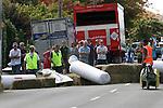 Oops. Robertson's Collingwood Street Trolley Derby, 17 March 2012,  Nelson, New Zealand<br /> Photo: Marc Palmano/shuttersport.co.nz