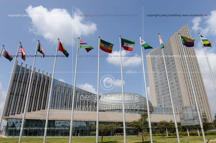AETHIOPIEN, Addis Abeba, neues Gebaeude der AU Afrikanischen Union, gebaut und geschenkt von China |  ETHIOPIA Addis Ababa, AU African Union new building, constructed and gifted by China | [ copyright (c) Joerg Boethling , Veroeffentlichung nur gegen Honorar zzgl. 7% Mwst. und Belegexemplar an: Joerg Boethling   Rothestr. 66   D-22765 Hamburg  GERMANY  tel. +49 40 380 89 359 14   e-mail: info@visualindia.de  , WEITERE MOTIVE ZU DIESEM THEMA ZUM HI-RES DOWNLOAD auf: www.visualindia.de ] [#0,26,121#]