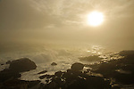 Stormy seas at Otter Point in Acadia National Park, Maine