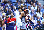 9th September 2017, FLushing Meadows, New York, USA;  MADISON KEYS (USA) and SLOANE STEPHENS (USA) during the women's finals match of the 2017 US Open tennis tournament  at Billie Jean King National Tennis Center in Flushing Meadow, NY.