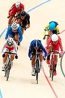 Picture by Alex Whitehead/SWpix.com - 09/12/2017 - Cycling - UCI Track Cycling World Cup Santiago - Velódromo de Peñalolén, Santiago, Chile - Women's Omnium Scratch race. Italy's Elisa Balsamo and Japan's Yumi Kajihara.