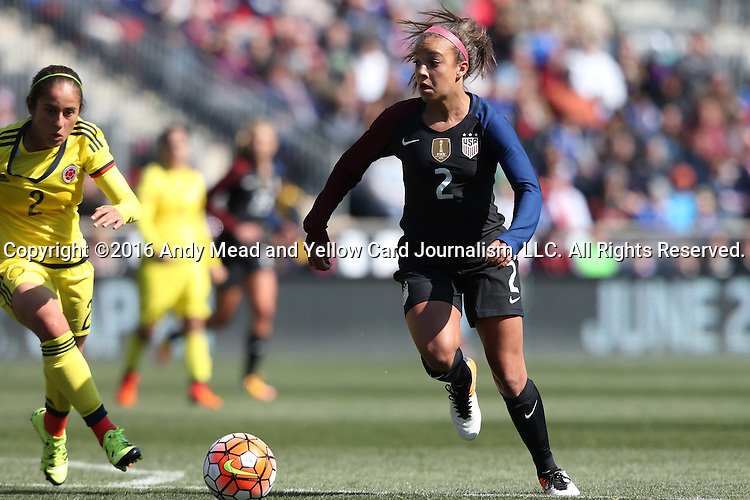 10 April 2016: Mallory Pugh (USA). The United States Women's National Team played the Colombia Women's National Team at Talen Energy Stadium in Chester, Pennsylvania in an women's international friendly soccer game. The U.S. won the match 3-0.