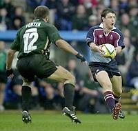 Photo - Peter Spurrier.25/01/2003 .Powergen Cup Quarter final London Irish v Rotherham.Ramiro Pez right