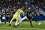 Leganes vs Real Madrid Kiko Casilla clear the ball during Copa del Rey  match. A quarter of final go. 20180118.
