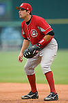 Chattanooga Lookouts first baseman Joy Votto on defense versus the Birmingham Barons at Hoover Metropolitan Stadium in Birmingham, AL, Sunday, August 20, 2006.