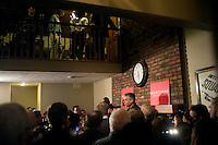 Former Utah governor Jon Huntsman speaks at a house party in Bedford, New Hampshire, on Jan. 8, 2012. Huntsman is seeking the 2012 Republican presidential nomination.