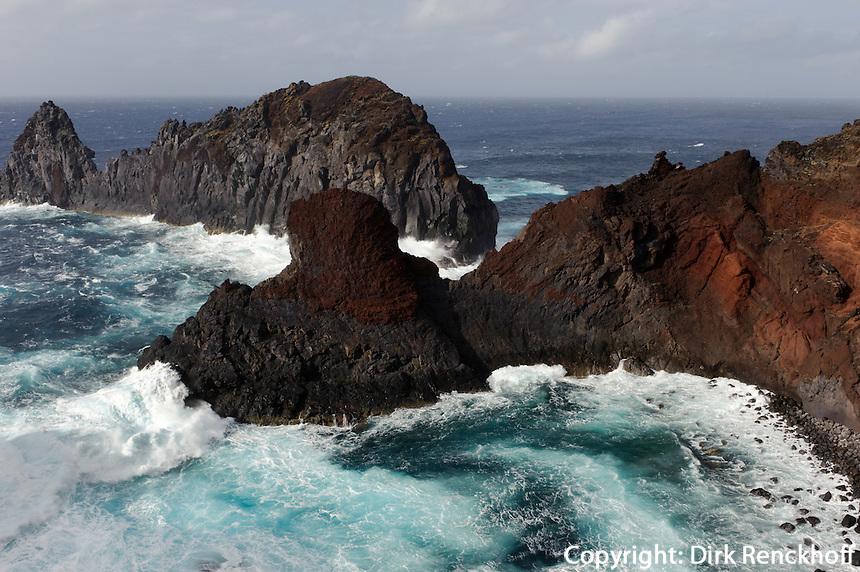 Ponta da Barca mit Ilheu da Baleia auf der Insel Graciosa, Azoren, Portugal