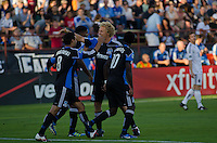 SANTA CLARA, CA - July 20, 2011: The San Jose Earthquakes tied the Vancouver Whitecaps 2-2 at Buck Shaw Stadium, on July 20th, 2011.