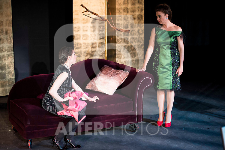 "Rebeca Matellan and Lola Baldrich during the theater play of ""Addio del Passato"" at Fernan Gomez Theater in Madrid. March 15, 2017. (ALTERPHOTOS/Borja B.Hojas)"