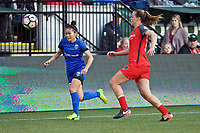 Portland, OR - Saturday May 06, 2017: Nahomi Kawasumi during a regular season National Women's Soccer League (NWSL) match between the Portland Thorns FC and the Chicago Red Stars at Providence Park.