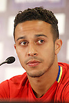Spain's Thiago Alcantara in press conference during previous friendly match. May 31,2016.(ALTERPHOTOS/Acero)