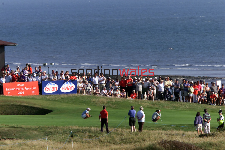 The weather shone and the crowds flocked to the WPGA Championship of Europe..Royal Porthcawl 29.07.01.©Steve Pope.Sportingwales.com.07798 83 00 89.124 Duckpool Road.Newport.South wales.NP19 8FL
