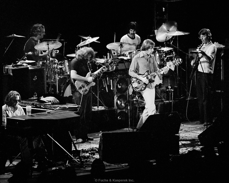 The Grateful Dead perform in Baton Rogue, Louisiana in 1977.