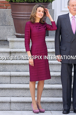 """CROWN PRINCESS LETIZIA.King Juan Carlos, Queen Sofia, Prince Felipe and Princess Letizia received French President Nicolas Sarkozy and wife Carla Bruni for lunch at Zarzuela Palace. Madrid_27/4/2009.Mandatory Credit Photo: ©NEWSPIX INTERNATIONAL..**ALL FEES PAYABLE TO: """"NEWSPIX INTERNATIONAL""""**..IMMEDIATE CONFIRMATION OF USAGE REQUIRED:.Newspix International, 31 Chinnery Hill, Bishop's Stortford, ENGLAND CM23 3PS.Tel:+441279 324672  ; Fax: +441279656877.Mobile:  07775681153.e-mail: info@newspixinternational.co.uk"""