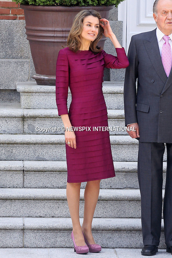 "CROWN PRINCESS LETIZIA.King Juan Carlos, Queen Sofia, Prince Felipe and Princess Letizia received French President Nicolas Sarkozy and wife Carla Bruni for lunch at Zarzuela Palace. Madrid_27/4/2009.Mandatory Credit Photo: ©NEWSPIX INTERNATIONAL..**ALL FEES PAYABLE TO: ""NEWSPIX INTERNATIONAL""**..IMMEDIATE CONFIRMATION OF USAGE REQUIRED:.Newspix International, 31 Chinnery Hill, Bishop's Stortford, ENGLAND CM23 3PS.Tel:+441279 324672  ; Fax: +441279656877.Mobile:  07775681153.e-mail: info@newspixinternational.co.uk"
