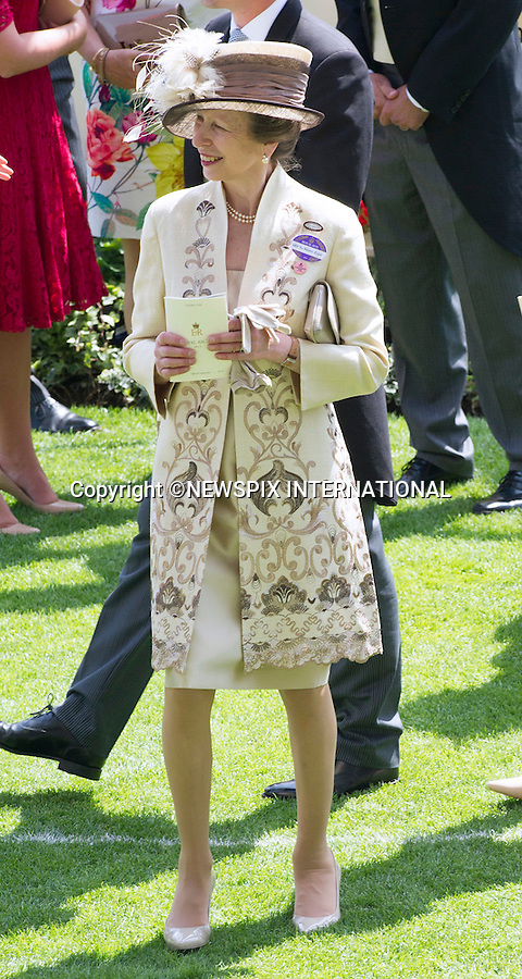 18.06.2015; Ascot, UK: ROYAL ASCOT LADIES DAY 2015 - PRINCESS ANNE<br />