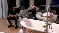 Ginuwine, Shane Lynch and John Barnes.<br /> Celebrity Big Brother 2018 - Day 7<br /> *Editorial Use Only*<br /> CAP/KFS<br /> Image supplied by Capital Pictures