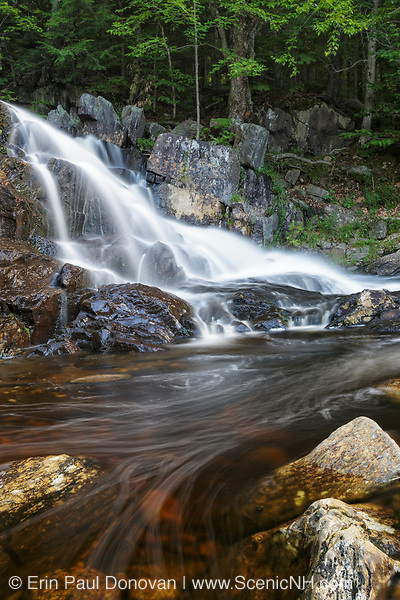 Stepped Falls on Brown Brook in Ellsworth, New Hampshire USA during the summer months.