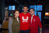Eric Lichaj meets with fans attending a U.S. Soccer Sunday Kick-off Series Event at Nashville Underground on Sunday, September 9, 2018 in Nashville, TN.