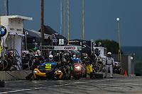 #13 AWA McLaren 570S GT4, GS: Orey Fidani, Chris Green, Pit Stop