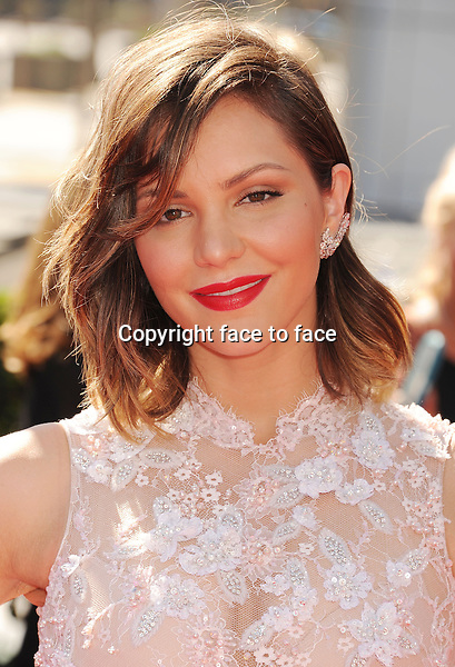 LOS ANGELES, CA- SEPTEMBER 15: Singer Katharine McPhee attends the 2013 Creative Arts Emmy Awards at Nokia Theatre L.A. Live on September 15, 2013 in Los Angeles, California.<br />