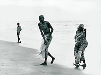Pilger in Puri, Indien 1974