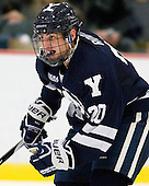 Jesse Root (Yale - 20) - The Yale University Bulldogs defeated the Harvard University Crimson 5-1 on Saturday, November 3, 2012, at Bright Hockey Center in Boston, Massachusetts.
