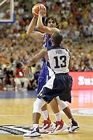 Spain's Victor Sada (l) and USA's Chris Paul during friendly match.July 24,2012. (ALTERPHOTOS/Acero) /NortePhoto.com<br /> **CREDITO*OBLIGATORIO** *No*Venta*A*Terceros*<br /> *No*Sale*So*third* ***No*Se*Permite*Hacer Archivo***No*Sale*So*third*©Imagenes*con derechos*de*autor©todos*reservados*.