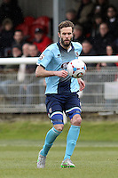 Andy Monkhouse of Grimsby Town during the Vanarama National League match between Dover Athletic and Grimsby Town at the Crabble Athletic Ground, Dover, England on 16 April 2016. Photo by Tony Fowles/PRiME Media Images.