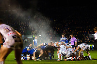 A general view of steam rising from a scrum. Premiership Rugby Cup match, between Bath Rugby and Gloucester Rugby on February 3, 2019 at the Recreation Ground in Bath, England. Photo by: Patrick Khachfe / Onside Images