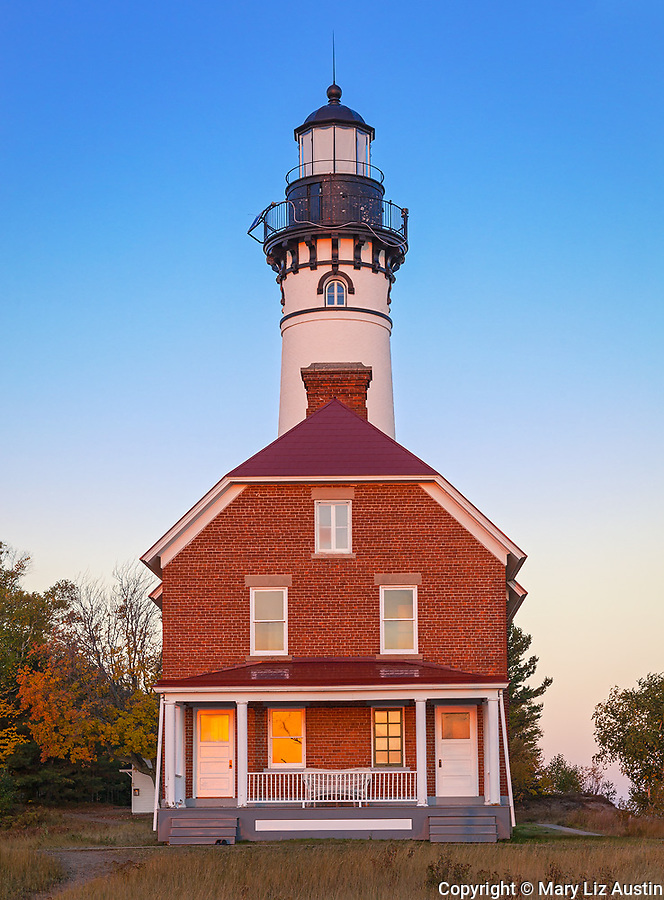 Pictured Rocks National Lakeshore, MI: Au Sable Light Station (1874) on Au Sable Point at dawn