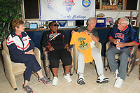 LOS ANGELES - JUN 1:  Kathy Bergen, Vivian Stancil, Pat Boone, Bob Messersmith at the National Senior Games Press Conference at the Pat Boone Enterprises on June 1, 2017 in West Hollywood, CA