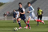 Jordan Holsgrove of Scotland races upfield during England Under-18 vs Scotland Under-20, Toulon Tournament Semi-Final Football at Stade Parsemain on 8th June 2017