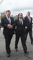 07/09/2010.(L to R).,An Taoiseach Brian Cowen TD & Johnny Ronan at the opening of the Convention Centre in Spencers Dock,  Dublin..Photo: Gareth Chaney Collins