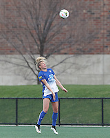Cambridge, Massachusetts - April 26, 2015: In a National Women's Soccer League (NWSL) match, Boston Breakers (blue) defeated Houston Dash (orange/white), 3-2, at Soldiers Field Soccer Stadium.