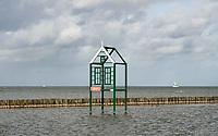 Nederland  Enkhuizen 2019.  Waterdoepark in  het Zuiderzeemuseum.  Het Zuiderzeemuseum richt zich op de geschiedenis, actualiteit en toekomst van het IJsselmeer-gebied.   Huisje in het Waterdoepark.       Berlinda van Dam / Hollandse Hoogte