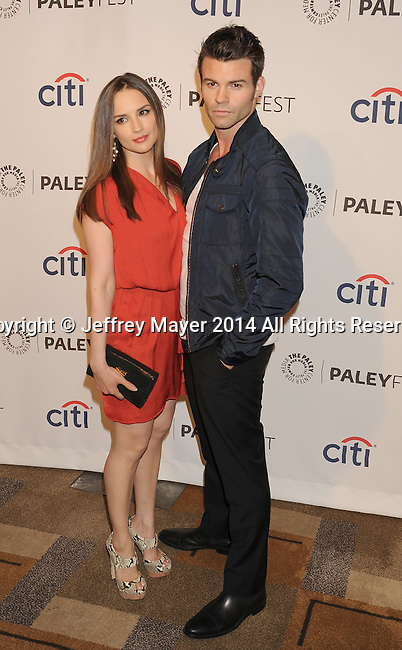 HOLLYWOOD, CA- MARCH 22: Actress Rachael Leigh Cook (L) and actor/husband Daniel Gillies attend the 2014 PaleyFest - 'The Vampire Diaries' & 'The Originals' held at Dolby Theatre on March 21, 2014 in Hollywood, California.