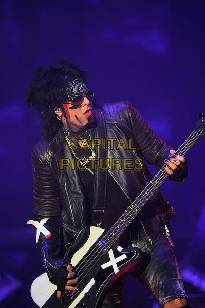 LONDON, ENGLAND - NOVEMBER 6: Nikki Sixx of 'M&ouml;tley Cr&uuml;e' performing at SSE Arena Wembley on November 6, 2015 in London, England.<br /> CAP/MAR<br /> &copy; Martin Harris/Capital Pictures