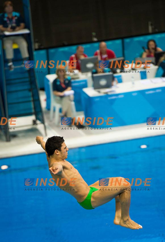 CASTILLO HUERTA Yahel Mexico.Diving 3 m. springboard men preliminary round .London 2012 Olympics - Olimpiadi Londra 2012.day 11 Aug.6.Photo G.Scala/Deepbluemedia.eu/Insidefoto