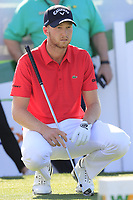 Daniel Berger (USA) on the 1st tee during Saturday's Round 3 of the Waste Management Phoenix Open 2018 held on the TPC Scottsdale Stadium Course, Scottsdale, Arizona, USA. 3rd February 2018.<br /> Picture: Eoin Clarke | Golffile<br /> <br /> <br /> All photos usage must carry mandatory copyright credit (&copy; Golffile | Eoin Clarke)
