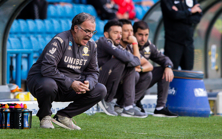 Leeds United manager Marcelo Bielsa shouts instructions to his team from the technical area<br /> <br /> Photographer Alex Dodd/CameraSport<br /> <br /> The EFL Sky Bet Championship - Leeds United v Charlton Athletic - Wednesday July 22nd 2020 - Elland Road - Leeds <br /> <br /> World Copyright © 2020 CameraSport. All rights reserved. 43 Linden Ave. Countesthorpe. Leicester. England. LE8 5PG - Tel: +44 (0) 116 277 4147 - admin@camerasport.com - www.camerasport.com