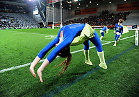 Sideline entertainment during the Super Rugby match between the Highlanders and Jaguares at Forsyth Barr Stadium in Dunedin, New Zealand on Saturday, 11 May 2019. Photo: Dave Lintott / lintottphoto.co.nz