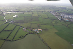 Aerial of Rathmoylan Co Meath  showing readymis quary and lands west of Village..Photo: Fran Caffrey/ Newsfile.