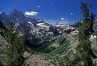 AJ1783, Grand Teton National Park, Wyoming, Rocky Mountains, Scenic view of the Grand Teton National Park.