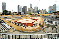 The Charlotte Knights new home at  BB&T Ballpark  will have a seating capacity of 10,000 seats and a natural grass field located in Center City Charlotte, North Carolina. Opening day at the new ballpark will be April, 11, 2014.<br />