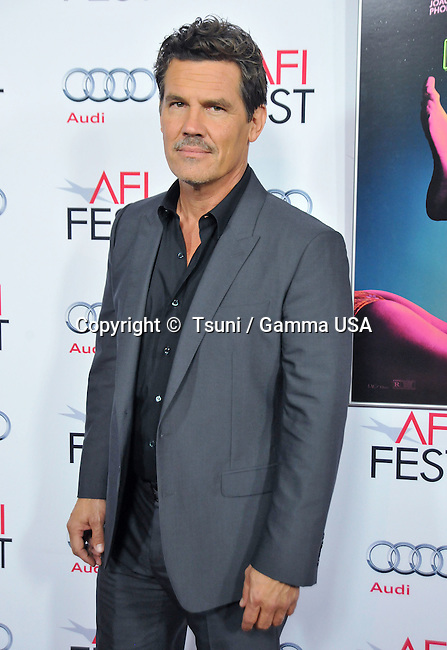 Josh Brolin  at the Inherent Vice Premiere at the Egyptian Theatre on Nov. 8, 2014 in Los Angeles.