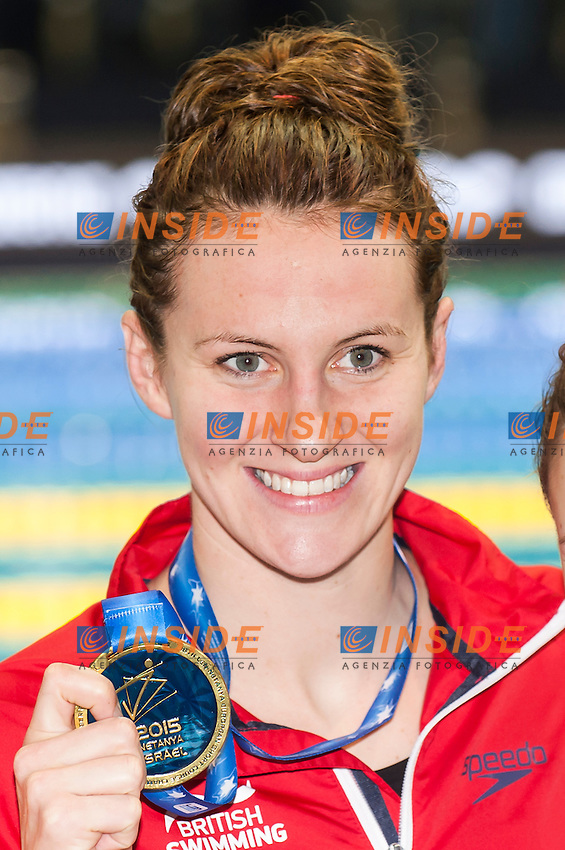 CARLIN Jazmin GBR gold medal<br /> Women's 800m freestyle final<br /> Netanya, Israel, Wingate Institute<br /> LEN European Short Course Swimming Championships  Dec. 2 - 6, 2015 Day02 Dec. 3nd<br /> Nuoto Campionati Europei di nuoto in vasca corta<br /> Photo Insidefoto