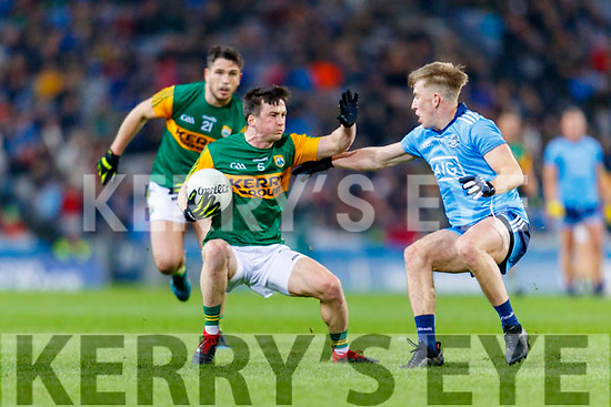 Paul Murphy, Kerry in action against Sean Bugler, Dublin during the Allianz Football League Division 1 Round 1 match between Dublin and Kerry at Croke Park on Saturday.